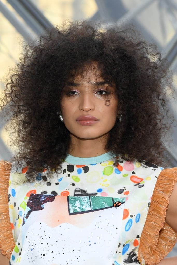 Actress Indya Moore at the Louis Vuitton Paris Fashion Week show.