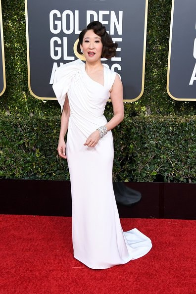 BEVERLY HILLS, CA - JANUARY 06:  Sandra Oh attends the 76th Annual Golden Globe Awards at The Beverly Hilton Hotel on January 6, 2019 in Beverly Hills, California.  (Photo by Jon Kopaloff/Getty Images)