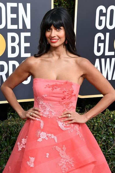 BEVERLY HILLS, CA - JANUARY 06: Jameela Jamil attends the 76th Annual Golden Globe Awards at The Beverly Hilton Hotel on January 6, 2019 in Beverly Hills, California.  (Photo by Jon Kopaloff/Getty Images)