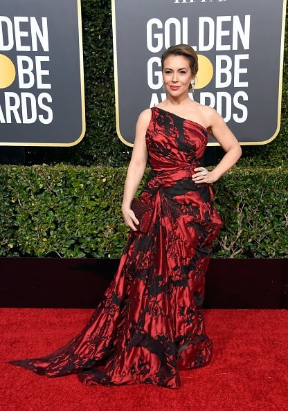 BEVERLY HILLS, CA - JANUARY 06:  Alyssa Milano attends the 76th Annual Golden Globe Awards at The Beverly Hilton Hotel on January 6, 2019 in Beverly Hills, California.  (Photo by Frazer Harrison/Getty Images)