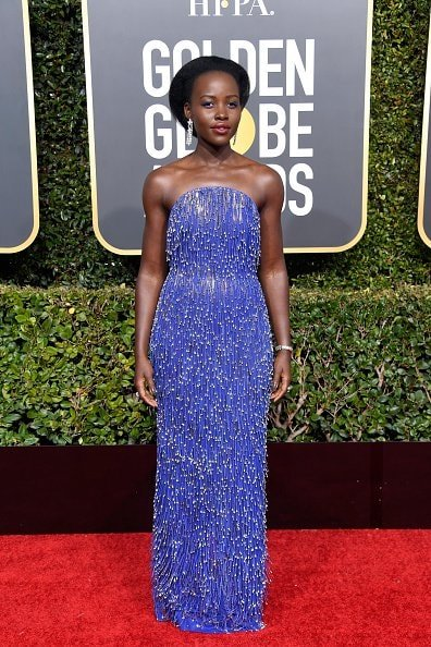 BEVERLY HILLS, CA - JANUARY 06:  Lupita Nyong'o attends the 76th Annual Golden Globe Awards at The Beverly Hilton Hotel on January 6, 2019 in Beverly Hills, California.  (Photo by Frazer Harrison/Getty Images)