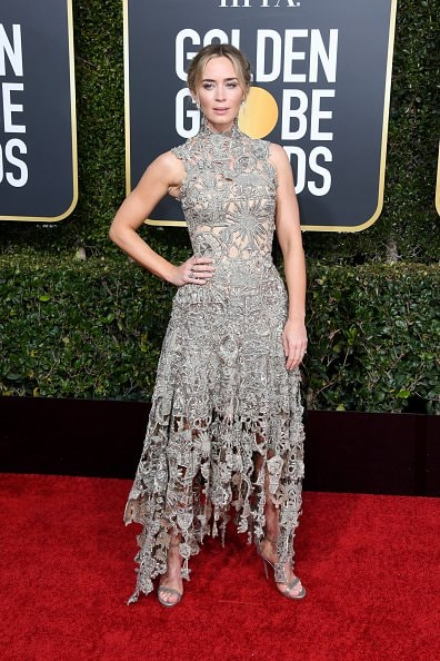 BEVERLY HILLS, CA - JANUARY 06:  Emily Blunt attends the 76th Annual Golden Globe Awards at The Beverly Hilton Hotel on January 6, 2019 in Beverly Hills, California.  (Photo by Jon Kopaloff/Getty Images)