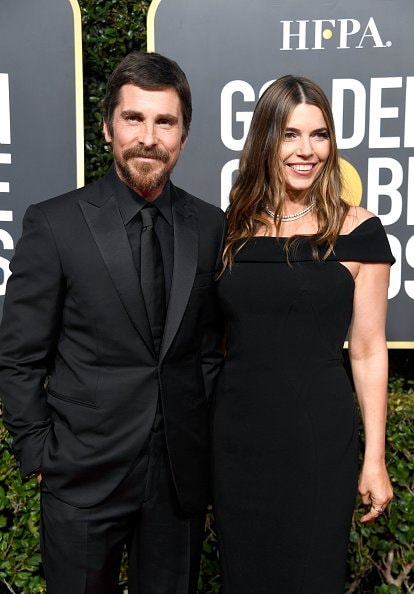 BEVERLY HILLS, CA - JANUARY 06:  Christian Bale (L) and Sibi Blazic attend the 76th Annual Golden Globe Awards at The Beverly Hilton Hotel on January 6, 2019 in Beverly Hills, California.  (Photo by Frazer Harrison/Getty Images)